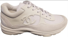 NIB Chanel suede/leather White Sneakers 37 size
