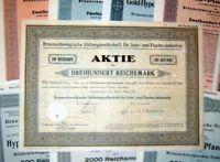 101 verschiedene HWPs aus Braunschweig 1889-1942 deko