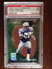 1995 Playoff Absolute #3 Barry Sanders Pigskin Preview PSA 7 NM Detroit Lions