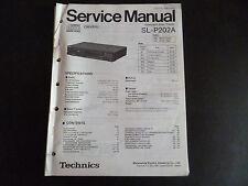 ORIGINALI service manual TECHNICS COMPACT DISC PLAYER sl-p202a