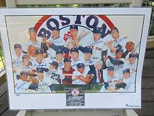1967 Boston Red Sox Autograph 18X24 PHOTO PSA CARL YASTRZEMSKI, WILLIAMS, DOERR,