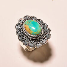 CHRYSOPRASE VINTAGE STYLE 925 STERLING SILVER RING SIZE 9.5 US