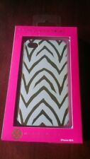 Macbeth Collection White and Gold Zebra print iphone 4/4s phone case