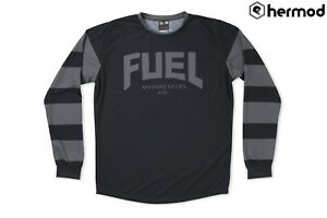 Fuel Motorcycles Grey Stripes Enduro Jersey - Black/grey