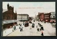 1911 Newark New Jersey Maine Market Street RR Depot Real Picture Postcard Cover