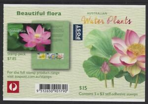 Australia 2017 Water Plants (Lotus Lily) booklet Phil 901790 B746