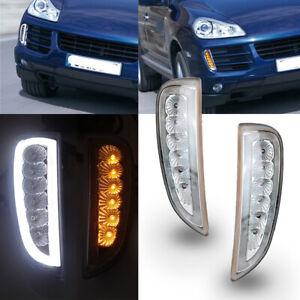 2pcs LED Daytime Running Light DRL Fog Signal Lamp For Porsche Cayenne 2006-2010