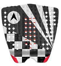 Astrodeck John John Surfboard Tail Pad In White-Grey- Red From Astodeck