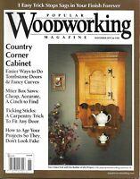 Popular Woodworking Magazine Country Corner Cabinet Tombstone Doors Miter Saws
