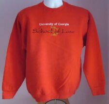 VTG Mens FOTL UNI OF GEORGIA Red Crew Neck Polycotton Sweatshirt Size S/M