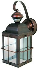 Antique Bronze Porch Light Motion Sensor Outdoor Lantern Lamp Fixture Exterior