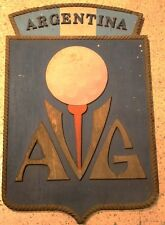 Asociacion Veteranos Argentina Golf Veterans wooden Plaque sign golfers