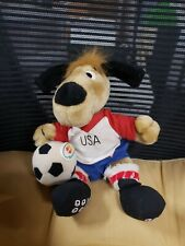 1993 Dakin Plush Toy MasterCard USA 1994 World Cup Soccer Mascot Striker Dog