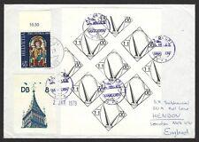 Dam Batai fantasy / bogus / local stamps on cover to UK ex Jim Czyl