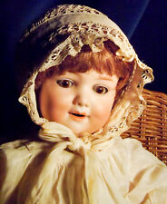 """Rare Armand Marseille 560a Bisque Head CHARACTER BABY Doll 15"""" Antique Clothing"""