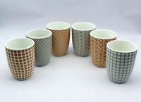 6 Stück Linvosges Becher Tasse verschiedene Muster Designs