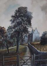An English Country Parish Oil Painting Appears Unsigned c1970s, British School