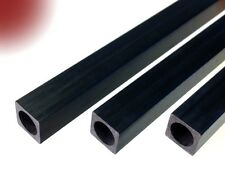 Carbon-Vierkant-Rohr 6.0x6.0 x 1000 mm (mit runder Bohrung 4.0 mm) CFK