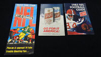 NFL Football lot of 3 Schedules 1971 , 1983 Schlitz