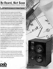 PSB CHS60 CustomSound Series-In Cabinet Speaker Each