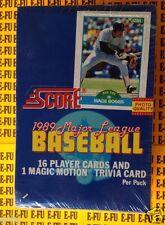 1989 Score Baseball Factory Sealed Box 36 Packs Craig Biggio Randy Johnson RC