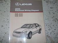 2005 Lexus GS430 GS300 Electrical Wiring Diagram Service Shop Repair Manual EWD
