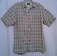 Bugle Boy Men's Shirt Original Check Button Front Size Medium