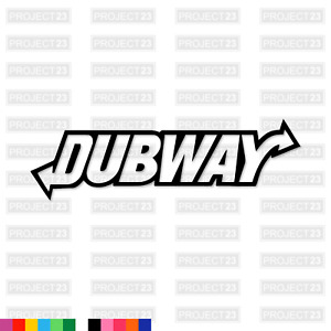 DUBWAY Dub Vag T4 T5 Camper Slammed Funny Rude Car/Van Decal Vinyl Sticker 007