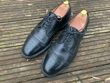 Allen Edmonds Black Leather Brogue Captoe leather Dress Shoes UK 8.5 - US 9