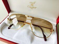 vintage CARTIER TANK rare sunglasses 22K gold plated 59*14 MEDIUM Vendome Driver
