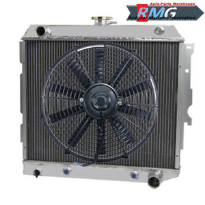 "Aluminum Radiator For Chevy II Nova 22""Core 1962-1967 1963 1964 1965 1966+Fan"