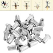 100Pcs Steel Aluminum Threaded Rivet Nut Inserts Rivnut Nutsert M4/M5/M6/M8 Set