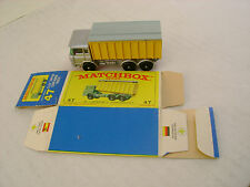 MATCHBOX LESNEY #47C DAF TIPPER CONTAINER TRUCK LIGHT GRAY COVER W/ORIGINAL BOX