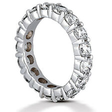 4 ct Round Diamond Eternity Ring 18K Gold Band 16 x 0.25 ct, G Si1 size 5