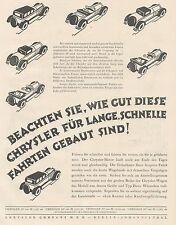 J1130 Automobili CHRYSLER Company - Pubblicità grande formato - 1927 Old advert
