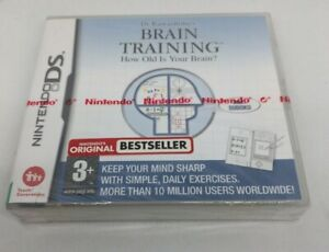 BRAIN TRAINING Nintendo DS NEW with SEALED with official nintendo strip