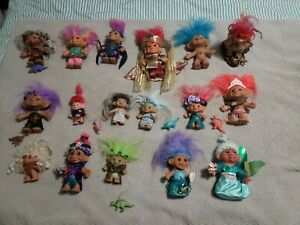 Troll DollS 3 Inch Small 1990s Vintage Collectible Toy Hair Lot 30
