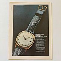Vintage Electric Timex Watch Photo Print Magazine Ad 1968