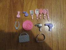 Mixed Lot of Barbie Accessories, hairbrushes, mirrors, necklace, blow dryers etc