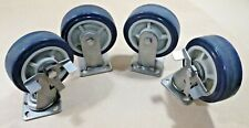 Set Of 4 6 Stainless Steel Caster Set 2 Straight Amp 2 Swivel With Brake