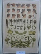 Original-Lithographien (1800-1899) aus Italien mit Mode- & Trachten-Motiv