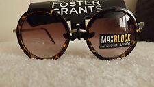 STYLISH Foster Grants FIERCE Max Block ROUND Sunglasses HAVANA