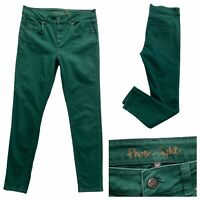 PHASE EIGHT Womens Green Denim Jeans Slim Fit Size 10 UK