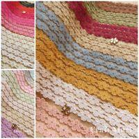 21 COLOURS lace ribbon trim craft scrapbook cards scalloped edge favors floral