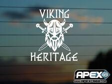 Viking Heritage - Funny Vinyl Sticker - White Historical Humour