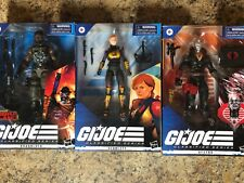Gi Joe Classified series  Cobra Island Roadblock Scarlet & Destro Lot
