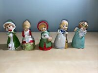 Vintage Christmas Jasco Merri Bells Lot Of 5 circa 1970s