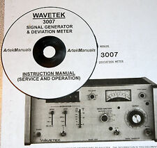 Wavetek 3007 Signal Genrator Amp Deviation Meter Operating Amp Service Manual