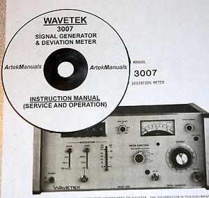 WAVETEK 3007 Signal Genrator & Deviation Meter, Operating & Service Manual