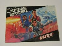 Mission Impossible - NES Nintendo Instruction Booklet Only